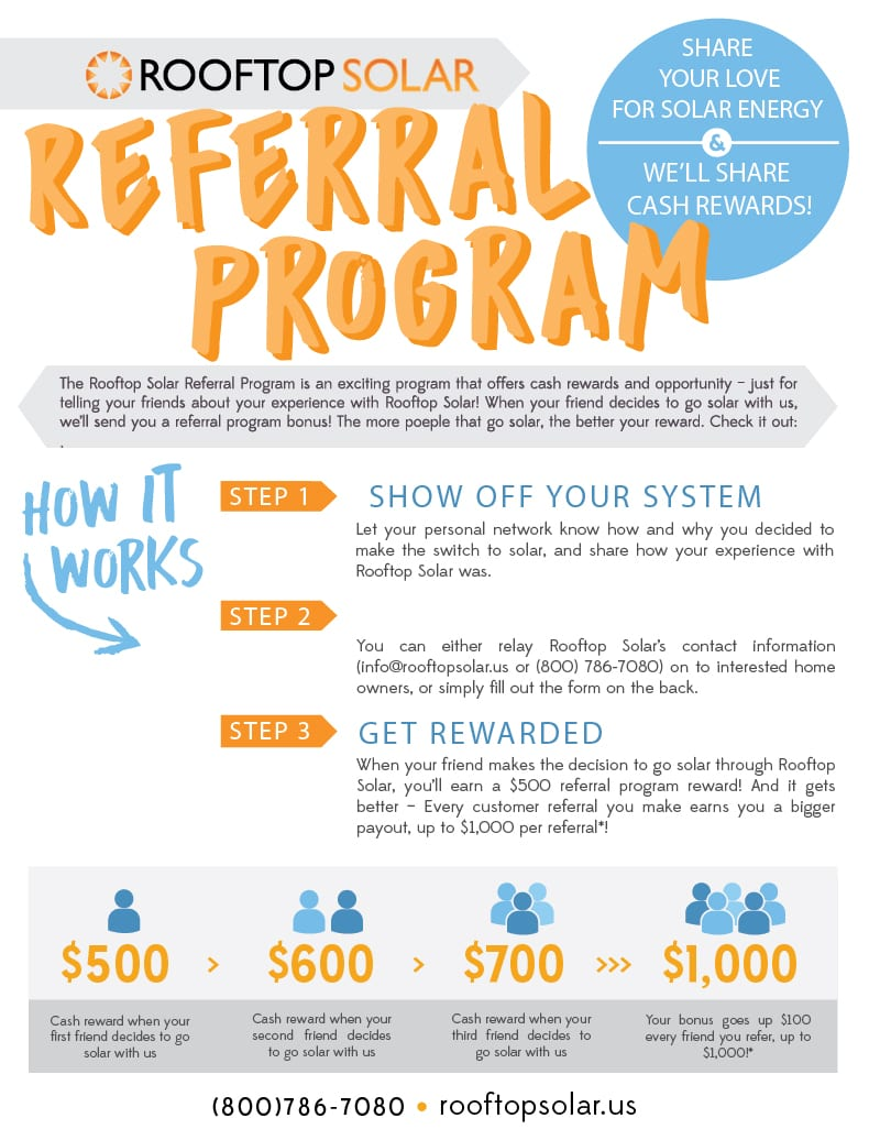Rooftop Solar Referal Program