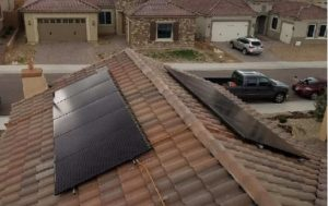 tile roof solar installation in Buckeye