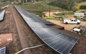 Rooftop solar installation example