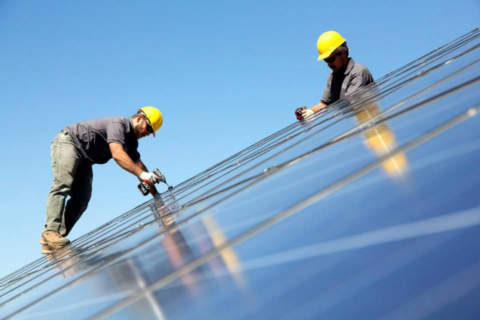 Rooftop Solar Installers at work