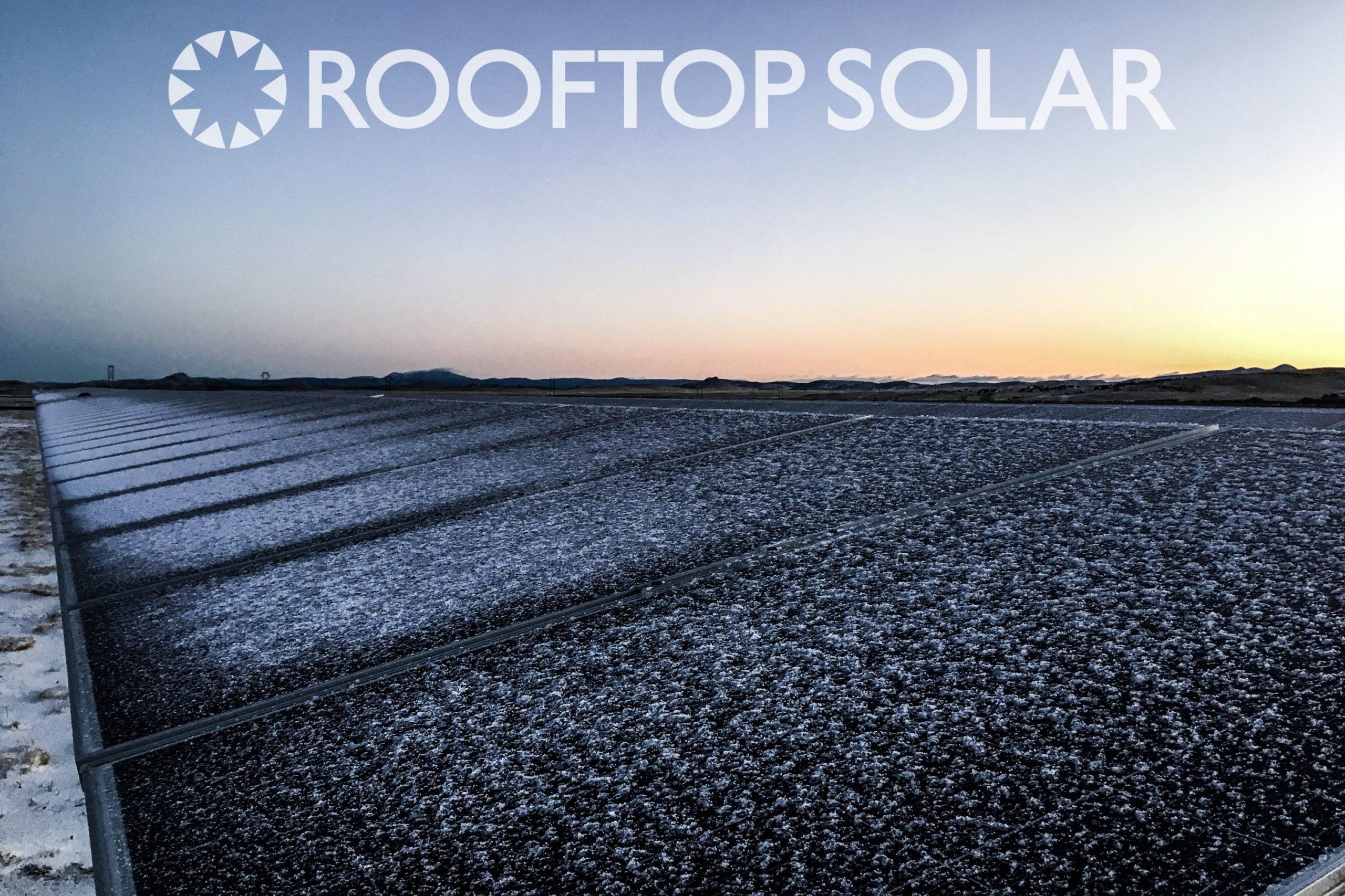 snowy solar panels